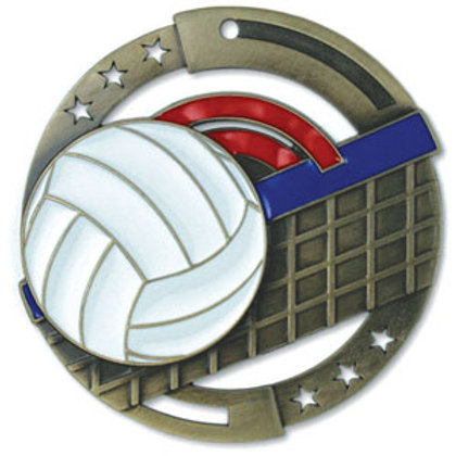 Enamel Volleyball Medal