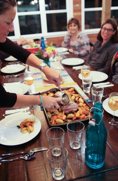Dinner at the Reed House, Manzanita