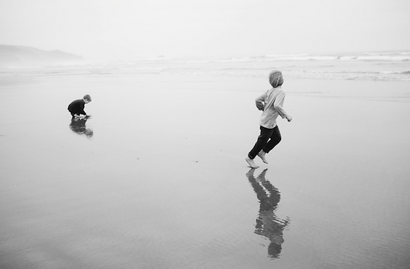 Kim on Manzanita Beach
