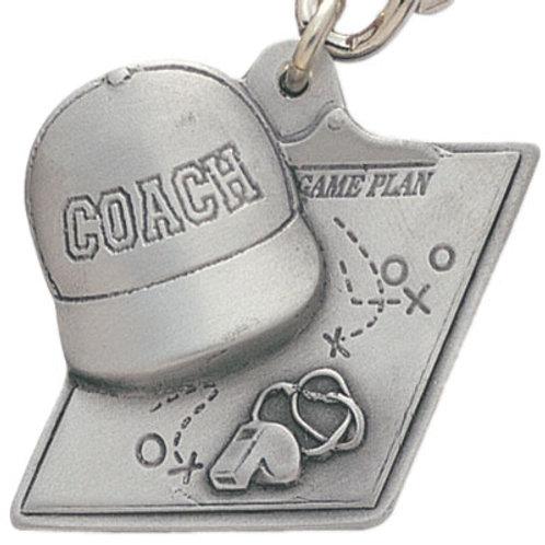 Coach Pewter Keychain