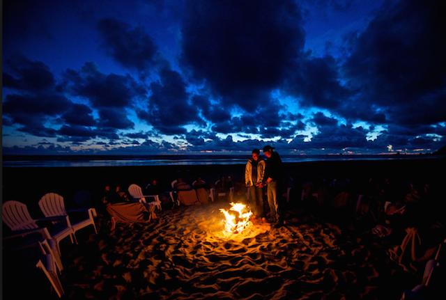 Manzanita Fire on the Beach