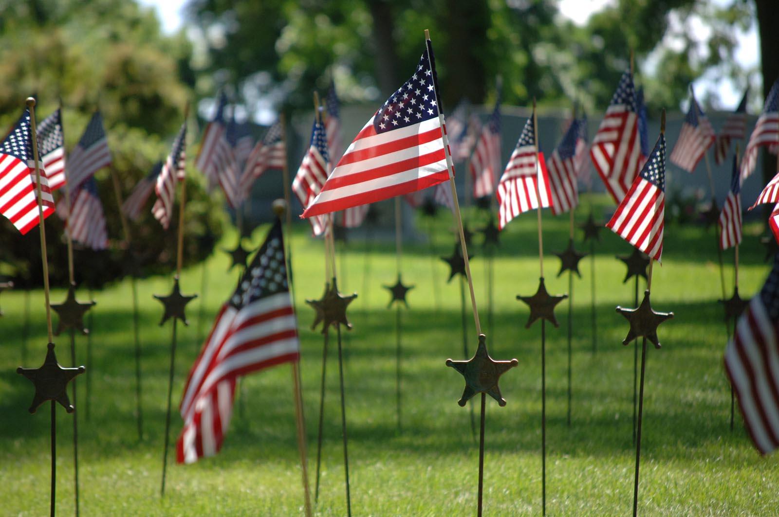 US Flags Memorial Day