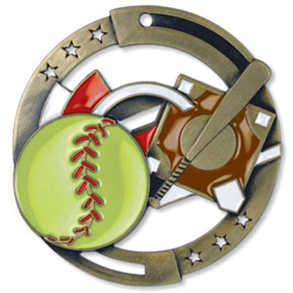 Softball Medal M3SS7G-cat