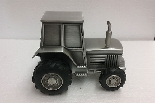 Pewter Tractor Bank
