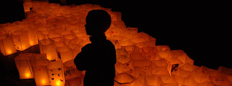 Boy Among Lanterns