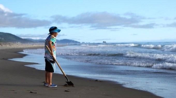 Family vacation, Manzanita Beach