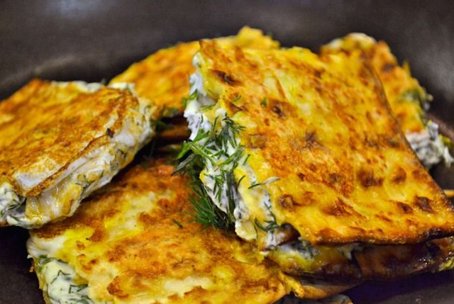 FRENCH TOAST MATZO WITH DILL CREAM CHEESE RECIPE