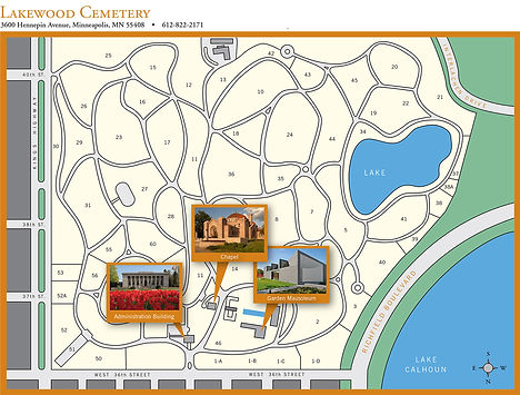 Map of Lakewood Cemetery