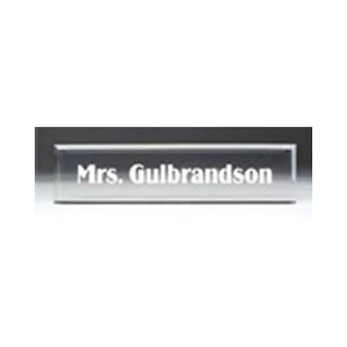 Clear Acrylic Nameplate