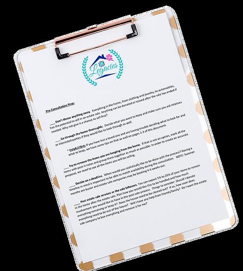 Estate Sales Checklist