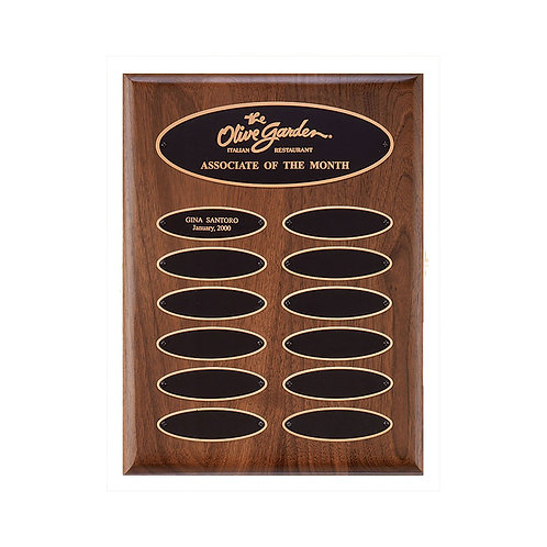 P3621 Walnut Perpetual Plaque 9x12