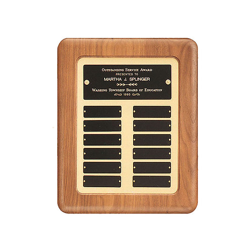P2527 12x15 Walnut Perpetual Plaque