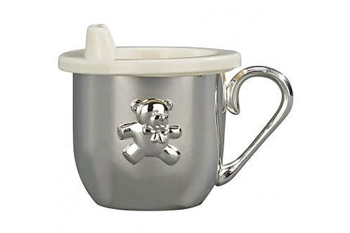 Silver Plated Teddy Bear Cup