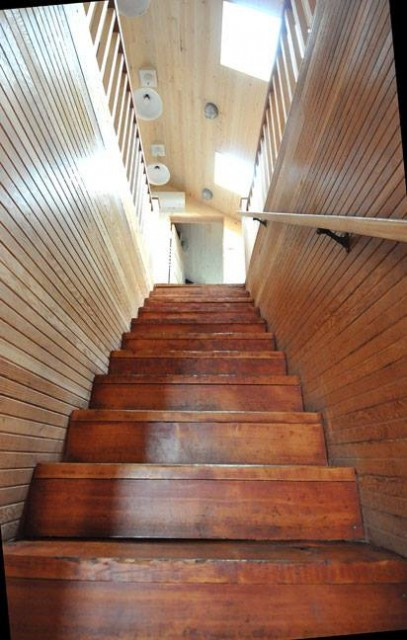 Staircase at The Historic Reed House, The Houses on Manzanita Beach