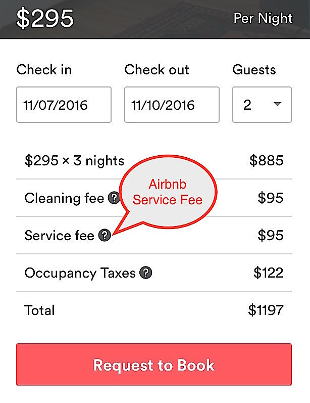 Airbnb Service Fees