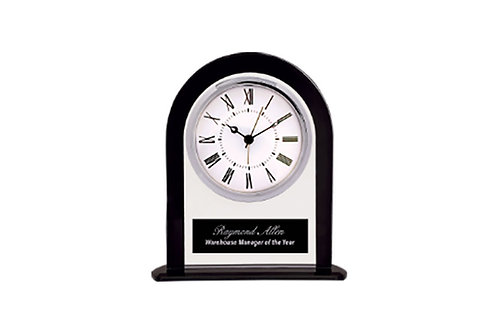 Black and Clear Clock