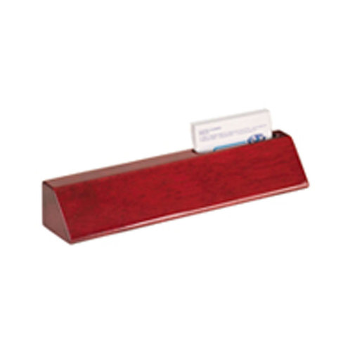 "8.5"" Rosewood Desk Wedge with BCard Holder"