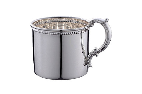 Pewter Scroll Baby Cup -HPJ
