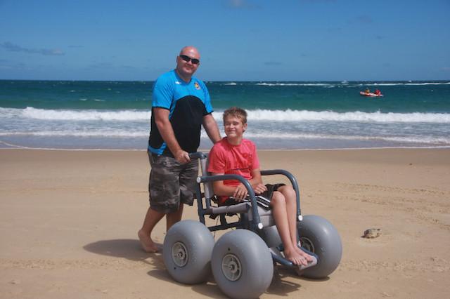 Beach wheelchair rental free use