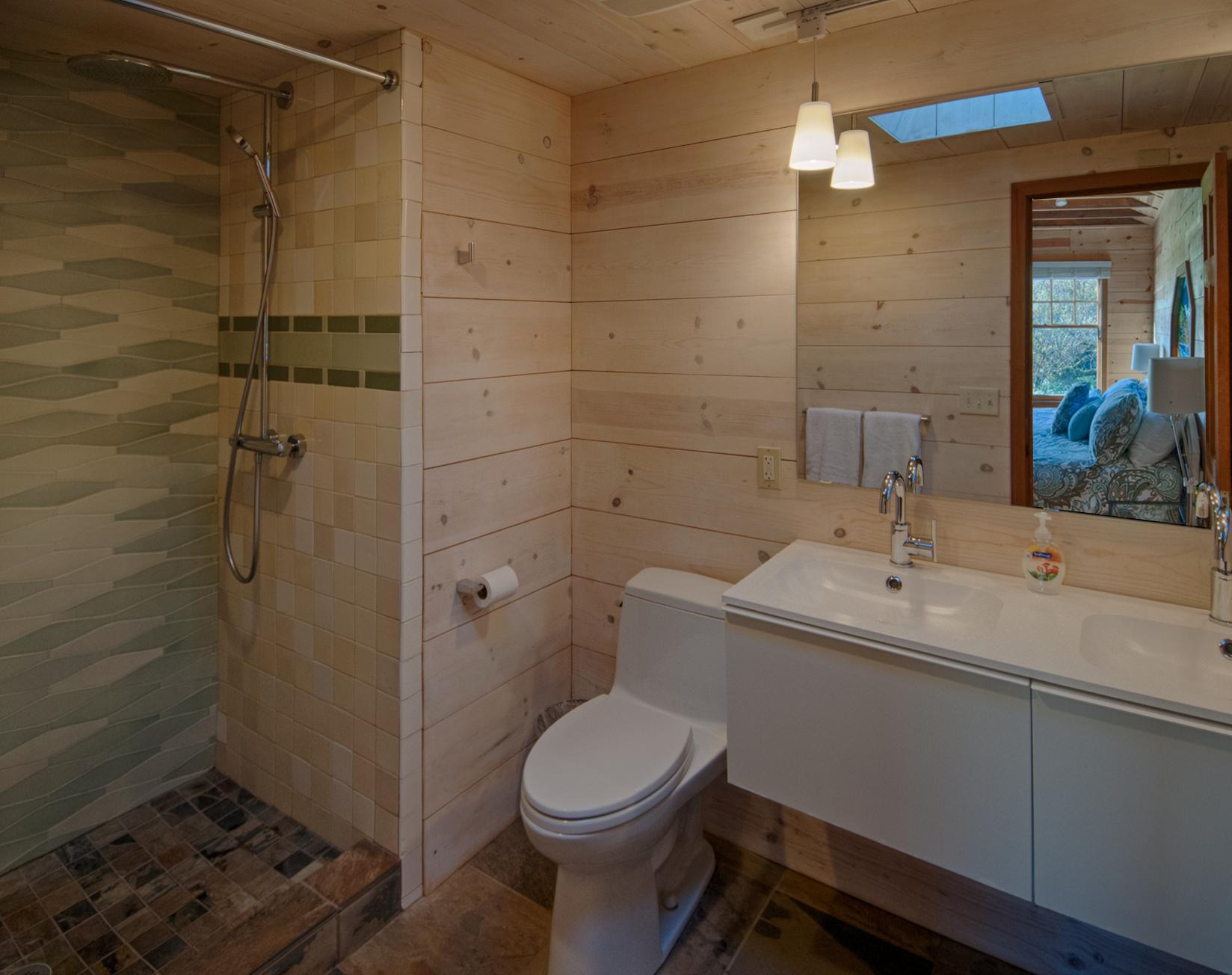 Oceanfront Cottage Master Bathroom