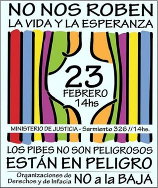 Niños, niñas, adolescentes y organizaciones dicen No a la Baja
