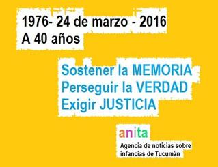 La memoria y la niñez: el 24 de marzo, 40 años después