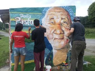 El mural de Doña Pastora de El Siambón y un homenaje a las mujeres trabajadoras