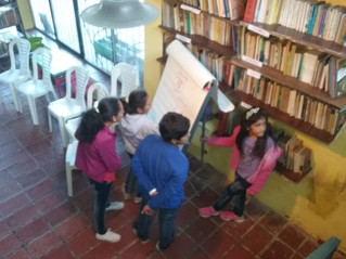 Raco y sus historias en un taller con mucha imaginación