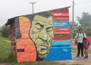 Con Atahualpa Yupanqui se inició la Senda de los Murales en Raco