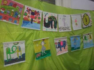 Niños y niñas artistas en La Feria de Ciencias de la Escuela Normal de Tucumán