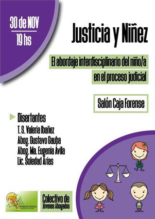 Convocan a pensar sobre Niñez y Justicia desde un abordaje interdisciplinario