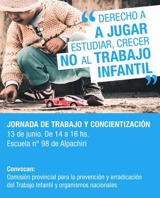 En Tucumán le dicen No al Trabajo Infantil