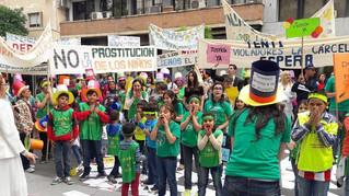 Movilización y talleres para pedir medidas contra el abuso sexual infantil