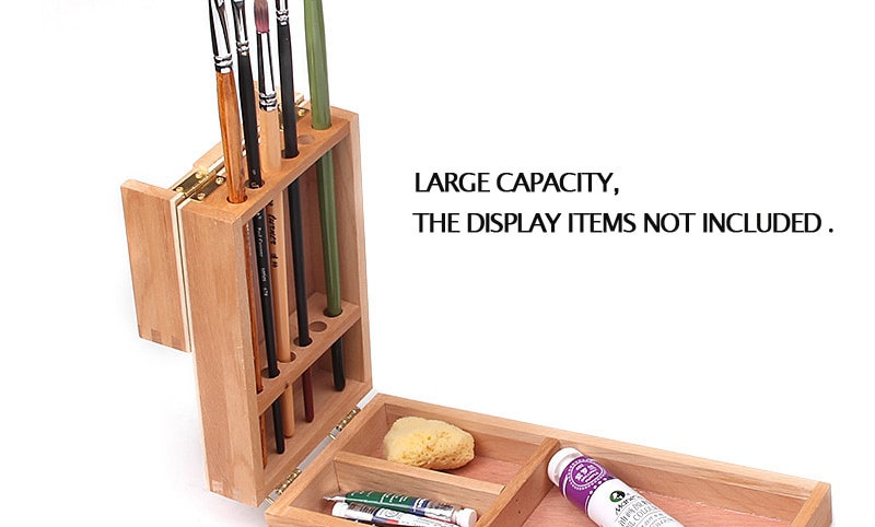 Adorable Mini Portable Sketch Easel Painting Box Wooden