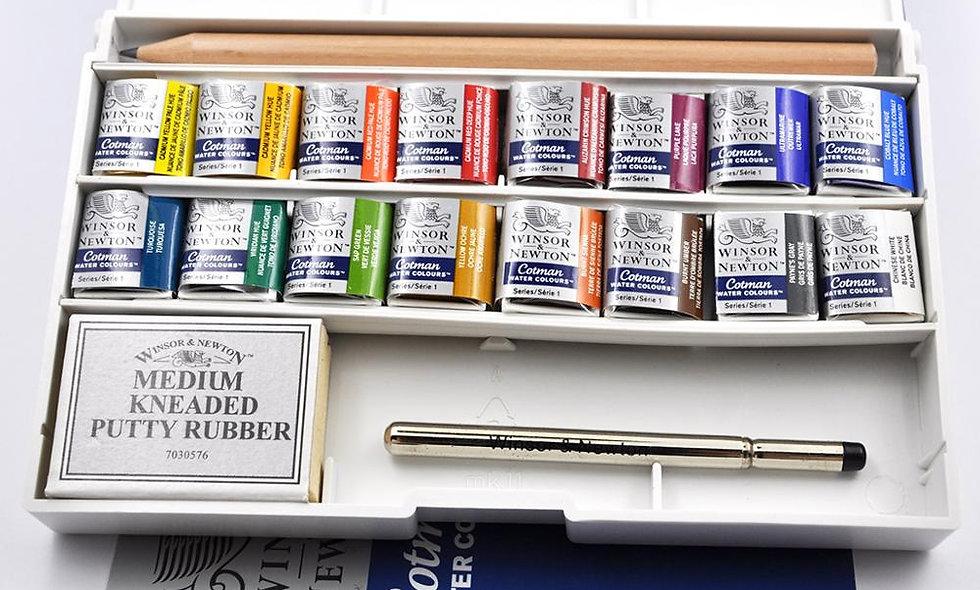 Winsor & Newton Cotman Watercolor 16 Colors Solid
