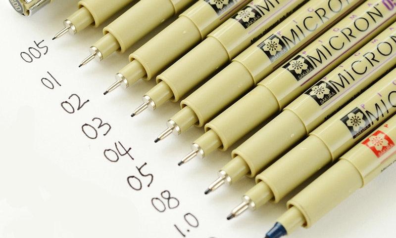 Black Pigma Micron Pen Waterproof 1/3/5Pcs