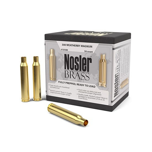 300 Weatherby Mag Nosler Brass