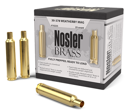 30-378 Weatherby Nosler Brass