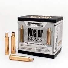 270 Weatherby Nosler Brass