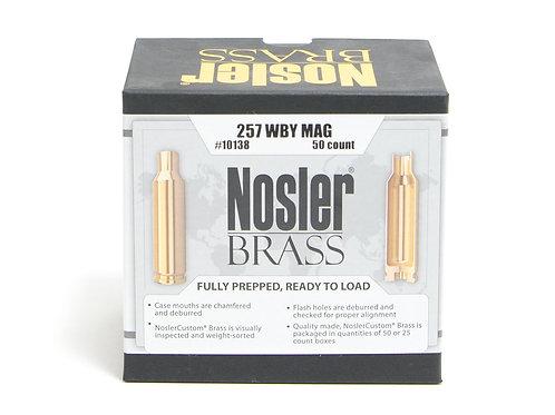 257 WBY MAG Nosler Brass