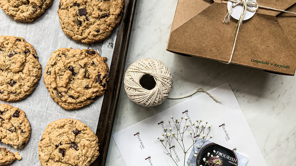 Cookies For Carers - Vegan Tahini Chocolate Chip Cookies