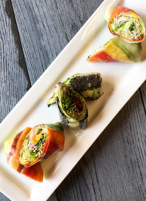 Raw Veggie Summer Rolls with a Raw Sweet Chili Sauce