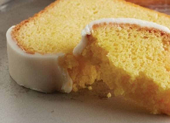 Slice of Iced Lemon Cake