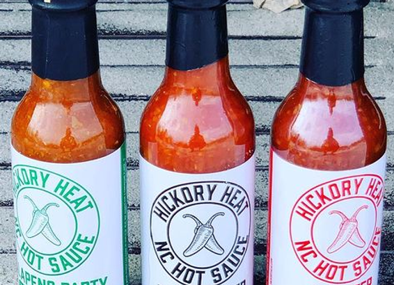 3 Pack of Hickory Heat Hot Sauce