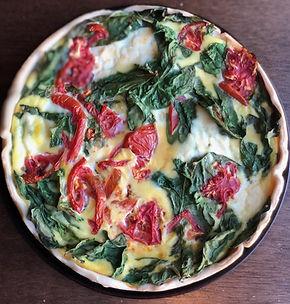 tomato spinach ricotta quiche