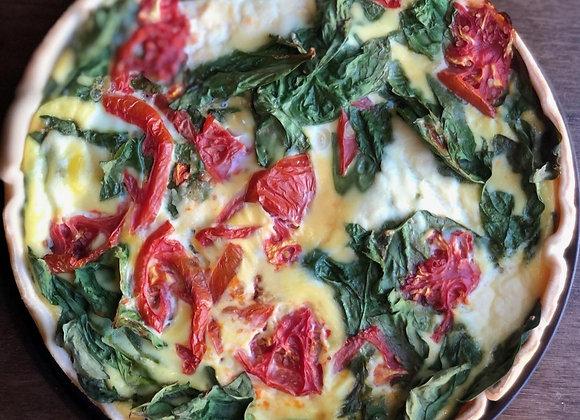Whole Quiche- Tomato, Spinach & Ricotta