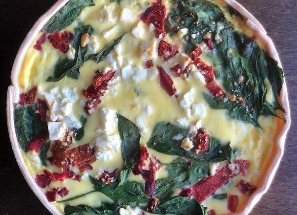 Whole Quiche - Roasted Pepper, Spinach & Feta