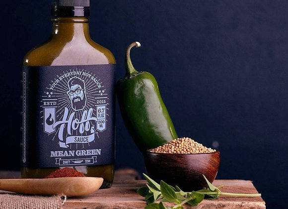 Hoff's Mean Green Jalapeno Hot Sauce