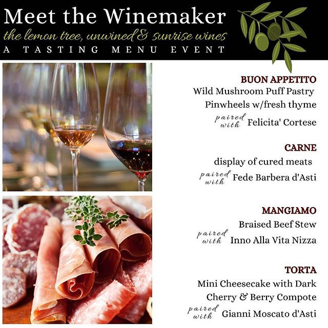SOLD OUT! Meet the Winemaker Tasting Event
