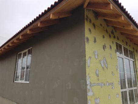 Выполнены работы по утеплению фасадов